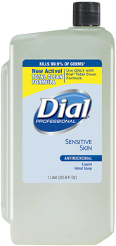 Picture of item 670-212 a Liquid Dial® Antimicrobial Soap for Sensitive Skin, 1000mL Refill, 8/Carton