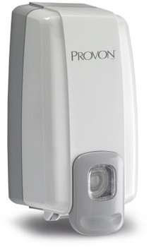 Picture of item 970-423 a PROVON® NXT® SPACE SAVER™ Dispenser - Dove Gray.  Uses 1,000 mL NXT Refills.