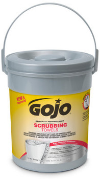 Picture of item 670-776 a GOJO® Scrubbing Towels. 72 Count Canister. 6 Canisters/Case.