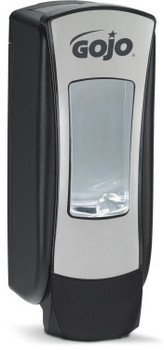 Picture of item 672-234 a GOJO® ADX-12™ Dispenser - Chrome. 1250 mL. Converts to locking dispenser. Removable pump. ADA Compliant.