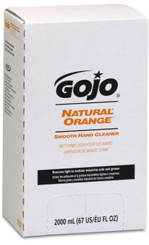 Picture of item 968-334 a GOJO® NATURAL* ORANGE™ Smooth Hand Cleaner.  PRO™ 2,000 mL Refill.