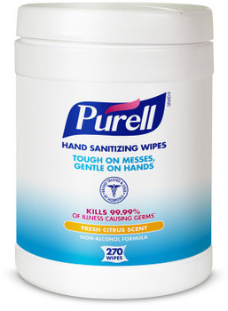 Picture of item 670-791 a PURELL® Hand Sanitizing Wipes. 270 Count Eco-Fit Canister. 6 Canisters/Case.