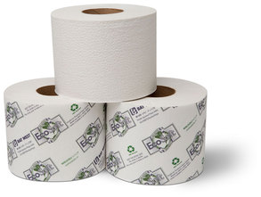 "Picture of item 887-618 a EcoSoft™ Controlled-Use Bath Tissue.  3-3/4"" x 4"".  2-Ply.  616 Sheets/Roll."