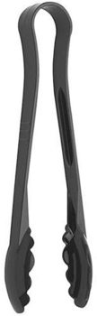 "Picture of item 967-122 a Cambro 6"" Black Plastic Scalloped Tongs"